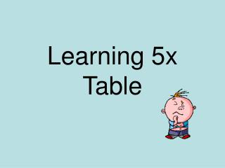 Learning 5x Table