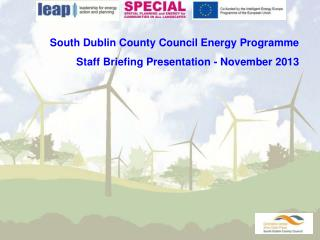 South Dublin County Council Energy Programme Staff Briefing Presentation - November 2013