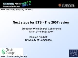 Next steps for ETS - The 2007 review