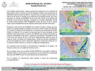 CENTRO DE ESTUDIOS Y PRON. METEOROLÓGICOS  SUBCOORDINACIÓN DE PRON.  EST. Y MET.