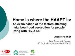 Alexis Palmer Drug Treatment Program BC Centre for Excellence in HIV/AIDS