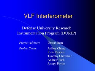 VLF Interferometer
