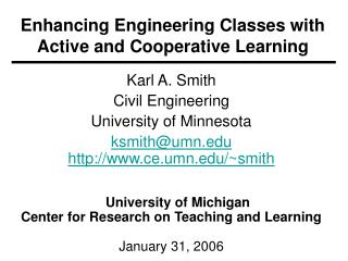 Enhancing Engineering Classes with Active and Cooperative Learning