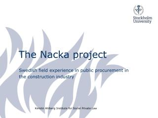 The Nacka  project