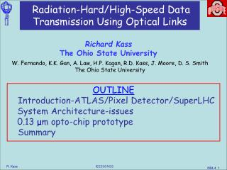 Radiation-Hard/High-Speed Data Transmission Using Optical Links