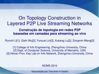 On Topology Construction in  Layered P2P Live Streaming Networks