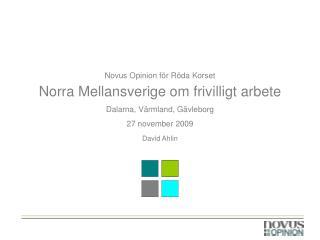 Novus Opinion för Röda Korset  Norra Mellansverige om frivilligt arbete