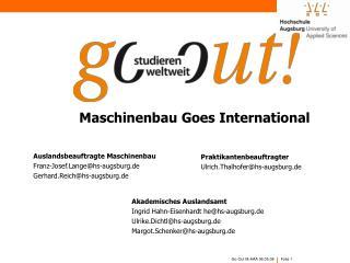 Maschinenbau Goes International