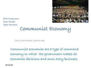 Communist Economy