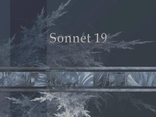 Sonnet 19