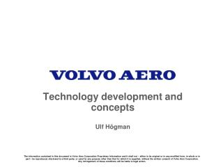 Technology development and concepts Ulf H�gman