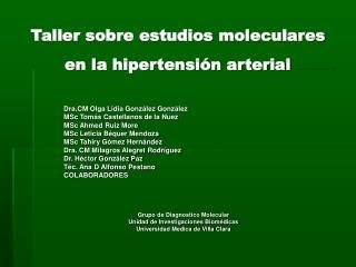 Taller sobre estudios moleculares en la hipertensión arterial