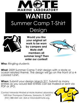 WANTED Summer Camp T-Shirt Design