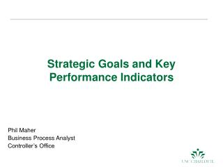 Strategic Goals and Key Performance Indicators