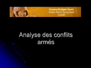 Analyse des conflits arm