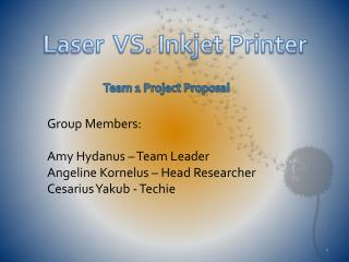 Team  1  Project Proposal