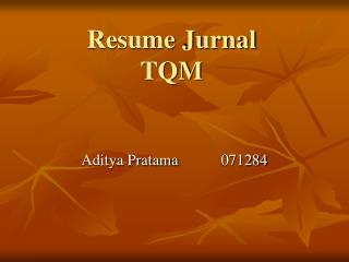 Resume Jurnal TQM