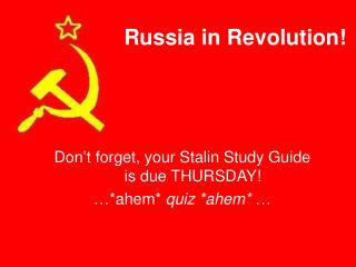 Russia in Revolution!