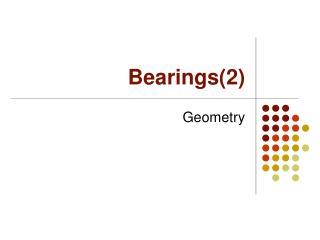 Bearings(2)