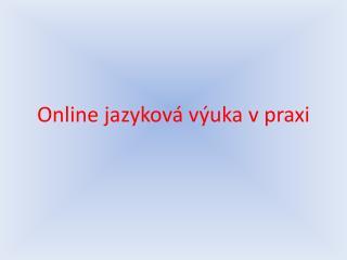 Online jazyková výuka v praxi