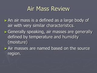Air Mass Review