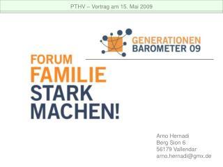 PTHV   Vortrag am 15. Mai 2009