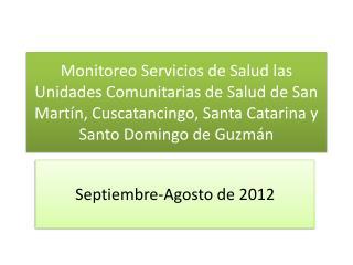 Septiembre-Agosto de 2012