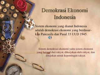 Demokrasi Ekonomi  Indonesia