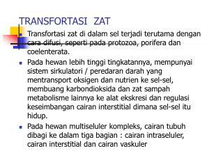 TRANSFORTASI  ZAT
