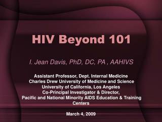 HIV Beyond 101