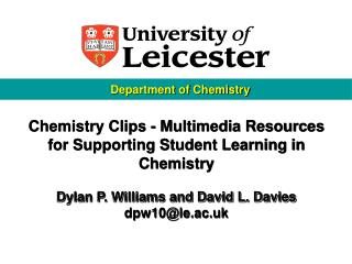 Chemistry Clips - Multimedia Resources for Supporting Student Learning in Chemistry
