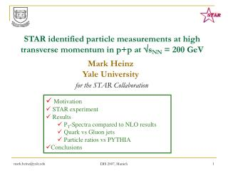 STAR identified particle measurements at high transverse momentum in p+p at  s NN  =  200 GeV
