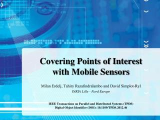 Covering Points of Interest  with  Mobile Sensors
