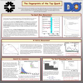 The fingerprints of the Top Quark