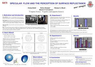 SPECULAR  FLOW AND THE PERCEPTION OF SURFACE REFLECTANCE
