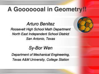 A Gooooooal in Geometry!!