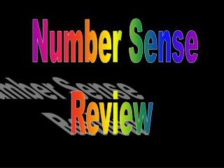 Number Sense Review