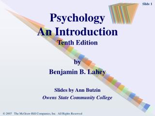 Psychology An Introduction Tenth Edition