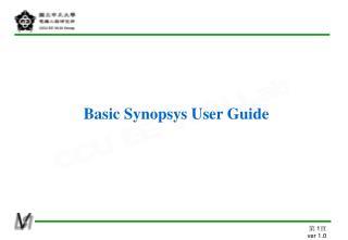 Basic Synopsys User Guide