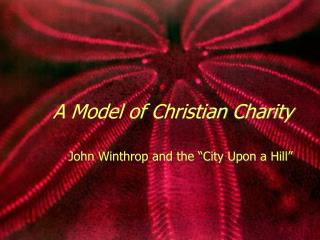 A Model of Christian Charity