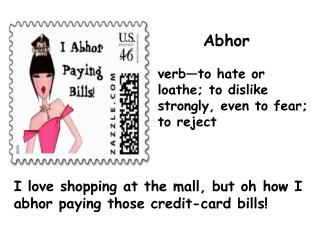 I love shopping at the mall, but oh how I abhor paying those credit-card bills!