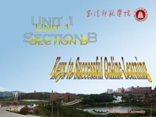 Unit 1     Section B
