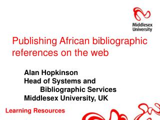 Publishing African bibliographic references on the web