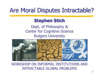 Are Moral Disputes Intractable?