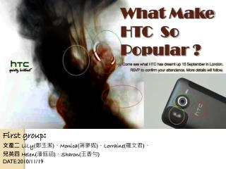 What Make    HTC  So Popular ?