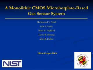 A Monolithic CMOS Microhotplate-Based Gas Sensor System