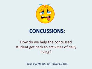 CONCUSSIONS: