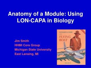 Anatomy of a Module: Using LON-CAPA in Biology