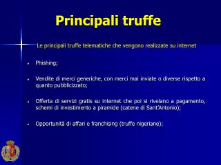 Principali truffe