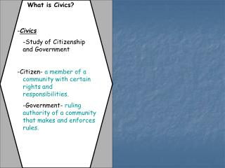 What is Civics?